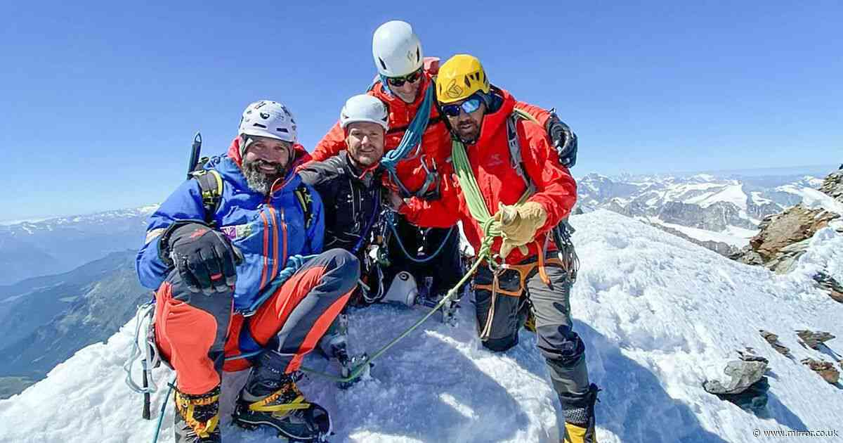 Soldier blown up in Iraq first above-the-knee double amputee to climb Matterhorn