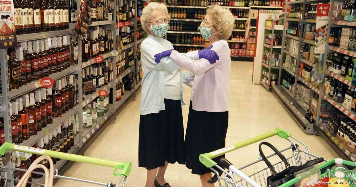 Twins head straight for booze aisle in Asda as they get 96th birthday wish