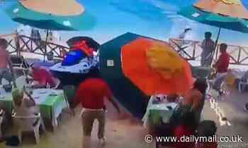 Runaway jet ski crashes into Mexico beach restaurant killing one, injuring two