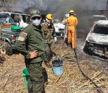 Puerto Quijarro: incendio calcinó 28 vehículos en predios de Umopar   EL DEBER - EL DEBER