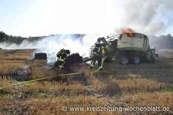 Löscheinsatz bei sengender Hitze: Ballenpresse bei Ruschwedel durch Feuer zerstört - Kreiszeitung Wochenblatt