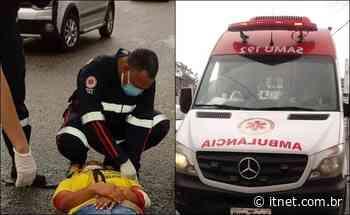 Uma pessoa fica ferida após colisão entre duas motocicletas em Itabaiana - Portal Itnet