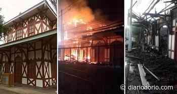 Incêndio atinge e destroí casarão histórico da Estação Ferroviária de Japeri - Diário do Rio de Janeiro