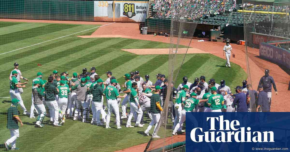 Social distancing eschewed with bench-clearing melee at Astros-A's game