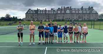 Andy Murray surprises delighted tennis youngsters at Gleneagles coaching - Daily Record