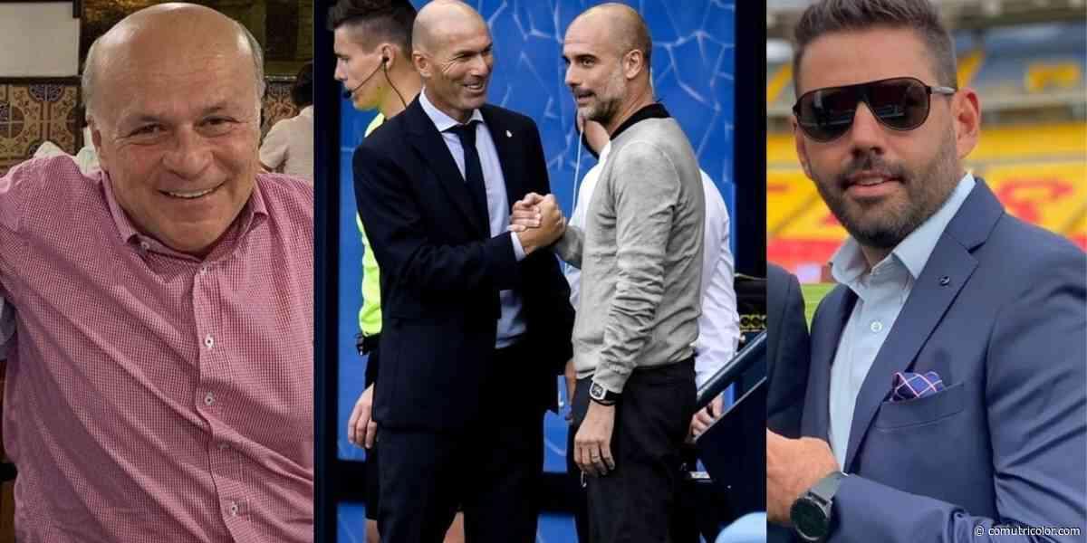 IMAGEN | Crítica de Carlos Antonio Vélez por foto de Zidane y Guardiola hablando, y gran respuesta de Daniel - Comutricolor