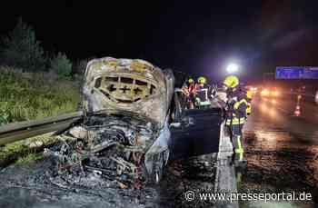 FW Sankt Augustin: Freiwillige Feuerwehr löscht brennenden PKW auf Autobahn A3 - Presseportal.de