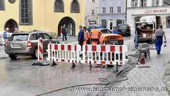 Im Landsberger Zentrum gibt es Verkehrsbehinderungen