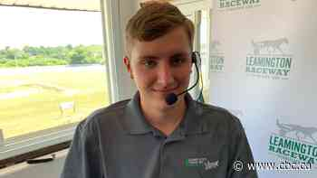 18-year-old takes reins as Leamington Raceway announcer as harness racing season begins