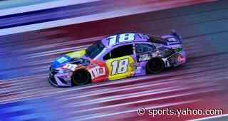 Kyle Busch drives No. 18 Toyota Camry to fifth-place finish at Michigan International Speedway