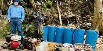 Operativo contra la minería ilegal entre Falan y A. Guayabal - El Nuevo Dia (Colombia)