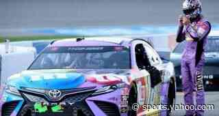 Kyle Busch drives No. 18 Toyota Camry to fourth-place finish at Michigan International Speedway