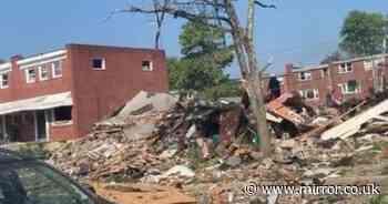 'Major' explosion destroys 3 homes leaving '5 people including children' trapped