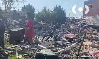 Five people, including children, are trapped inside house in Baltimore after 'major explosion'