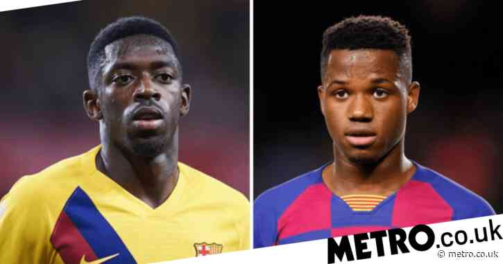 Barcelona fear Manchester United will make move for Ansu Fati or Ousmane Dembele if Jadon Sancho bid fails
