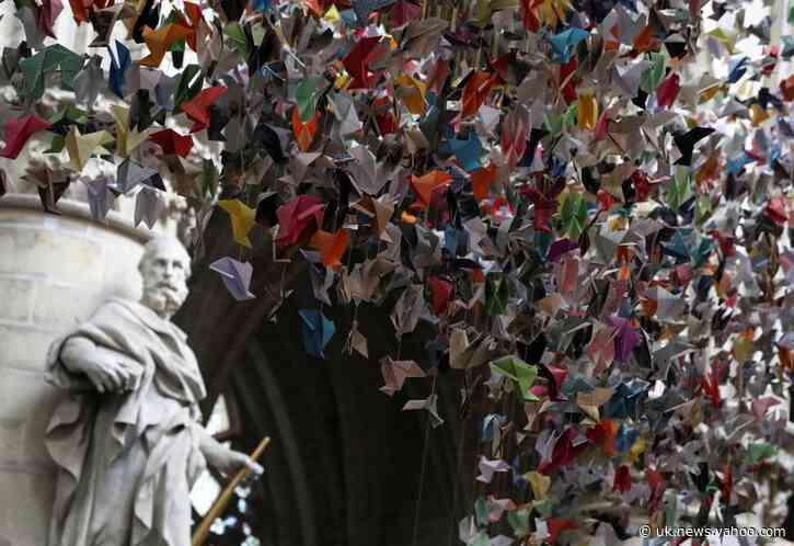 20,000 paper birds help fund COVID-19 units at Belgium hospital