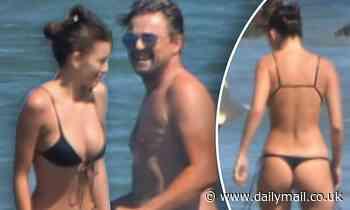 Leonardo DiCaprio goes shirtless on beach with girlfriend