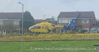 Man found with 'stab wound' after air ambulance scrambled