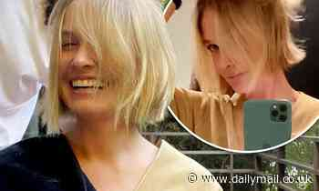 Lara Bingle flaunts her freshly cropped locks after she enjoys 'home haircut' in lockdown