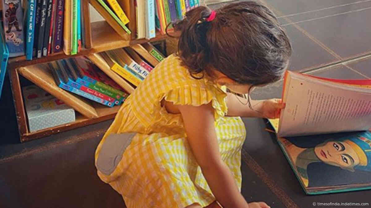 Soha Ali Khan shares cute picture of daughter Inaaya reading a book