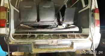 Satipo: Decomisan 92 paquetes de clorhidrato de cocaína camuflada en combi - Diario Perú21