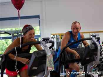 """""""Längster Nonstop-Rolltreppenlauf im Mixed-Team"""": Tanja Höschele aus Straubenhardt knackt mit Partner Weltrekord - Pforzheimer Zeitung"""