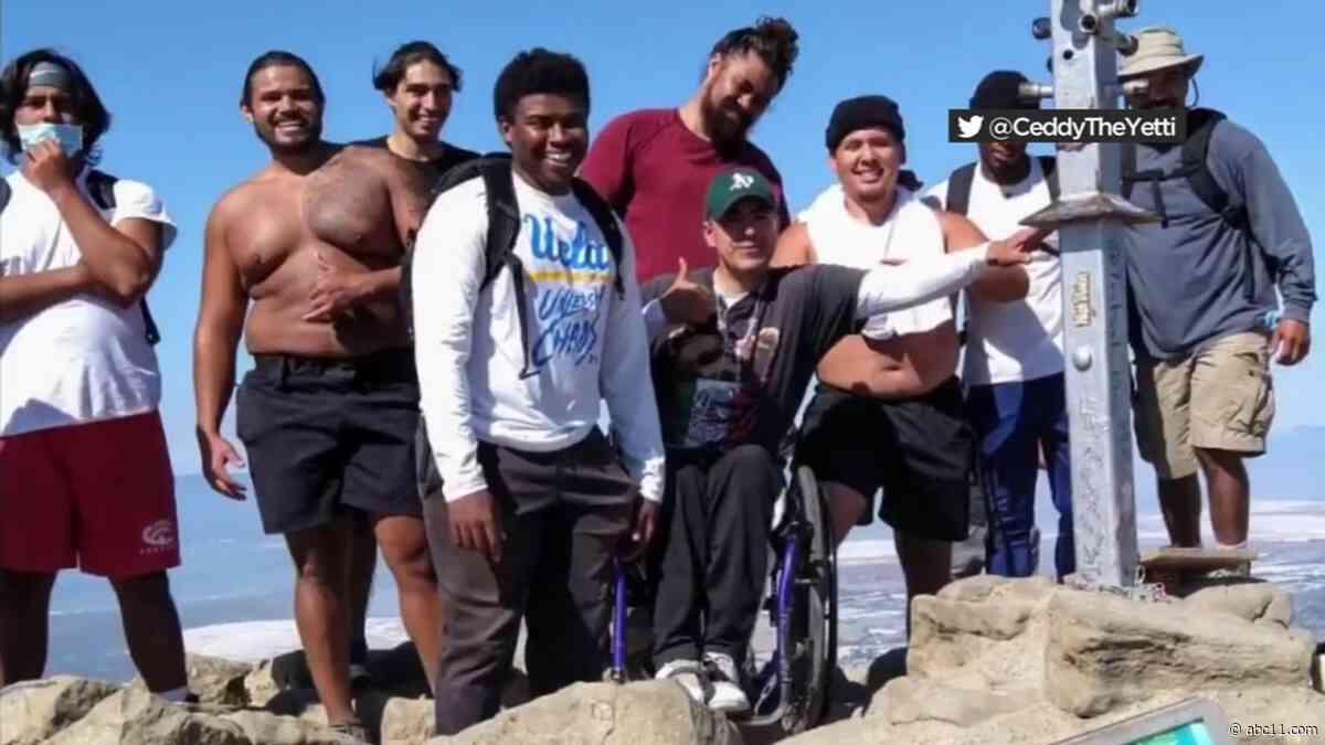 Netflix 'Last Chance U' stars carry man in wheelchair up California summit