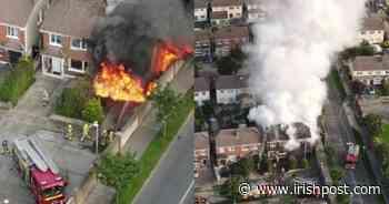 WATCH: Shocking scenes as Dublin Fire Brigade tackle massive house fire in Balbriggan - Irish Post