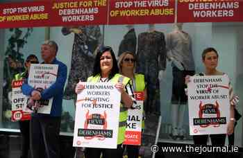 Former Debenhams workers hold protest on Dublin's Henry Street - TheJournal.ie