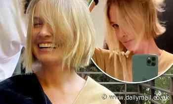 Lara Bingle shows off new lockdown 'home haircut'