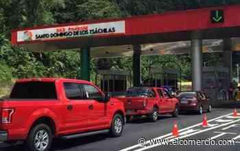 En la vía Alóag- Santo Domingo se espera el retorno de más de 11 000 vehículos este 10 de agosto del 2020