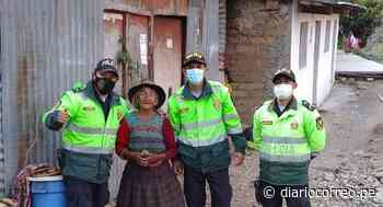 Huancavelica: Policías llevan ayuda a abuelas abandonadas - Diario Correo