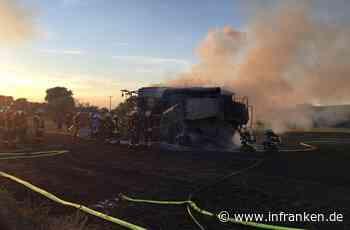 Gramschatz: Mähdrescher fängt Feuer - 350.000 Euro Schaden