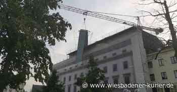 Stahlgerüst knickt ab: Einsatz am hessischen Landtag