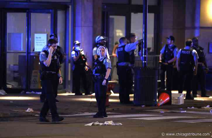 Aftermath of looting in downtown Chicago: 13 cops injured, 2 people shot, more than 100 arrests, stores trashed