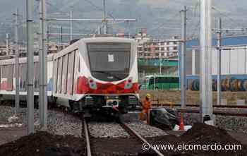 El Metro de Quito realiza pruebas sobre rieles con un remolque externo