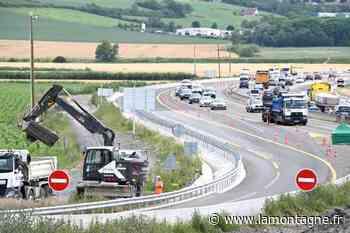 Fermetures nocturnes sur l'A75 entre Clermont-Ferrand et Le Crest cette semaine pour le chantier d'élargissement - La Montagne