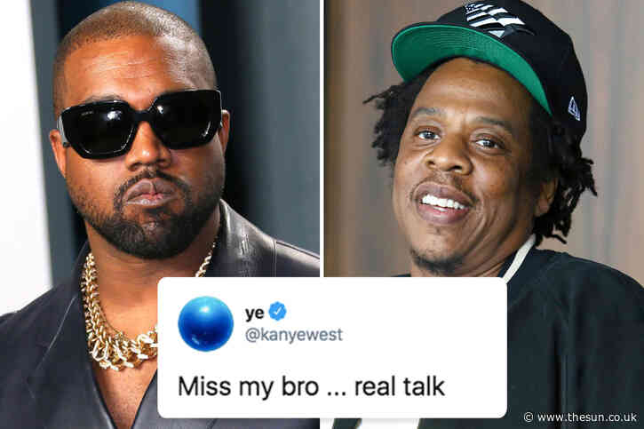 Kanye West confesses he 'misses his bro' Jay Z following claims he 'wants rapper as running mate' after years-long feud