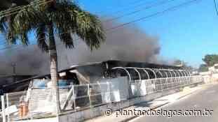 Incêndio atinge clínica da família em Sepetiba - Plantão dos Lagos