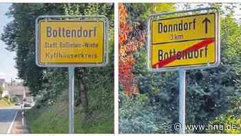 Bottendorf: Ortsschild geklaut - Weiter keine Spur vom Täter - HNA.de