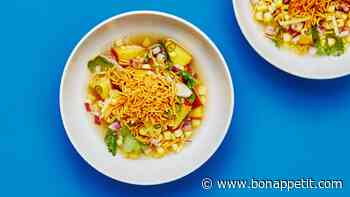 Corn and Peach Chaat
