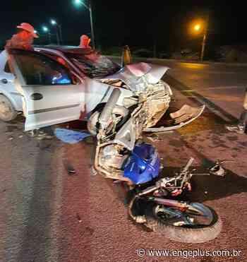 Motociclista fica ferido após colisão com carro em Laguna - Engeplus