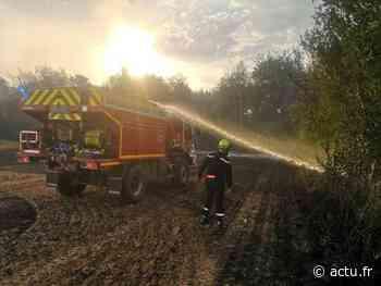Vidéo : l'impressionnant feu de chaume à Boran-sur-Oise - actu.fr