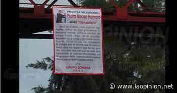 Colocan manta en puente peatonal en Cerro Azul - La Opinión