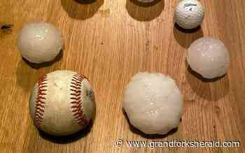 Huge hail, big thunderstorms hit Twin Cities - Grand Forks Herald
