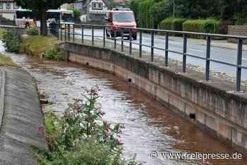 Nach Gewitter in Lugau: Kleine Flutwelle im Hegebach - Freie Presse