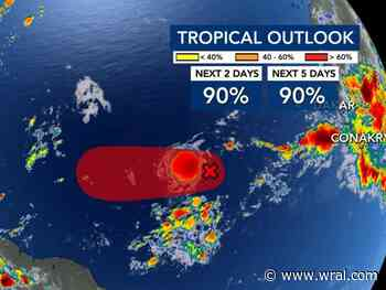 Tropical depression forms in Atlantic, 11th of the season