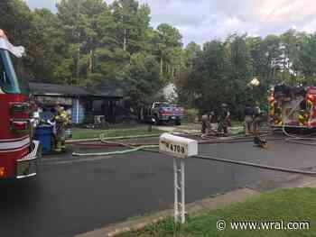 Four adults and a child displaced after fire at Durham home