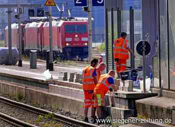 Bahnhof Kreuztal wieder am Netz (Update): Vorsicht an der Abbruchkante! - Kreuztal - Siegener Zeitung