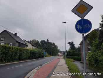 Rätselraten um Rad-Gehweg Eichen: Links-rechts-Schwäche - Siegener Zeitung